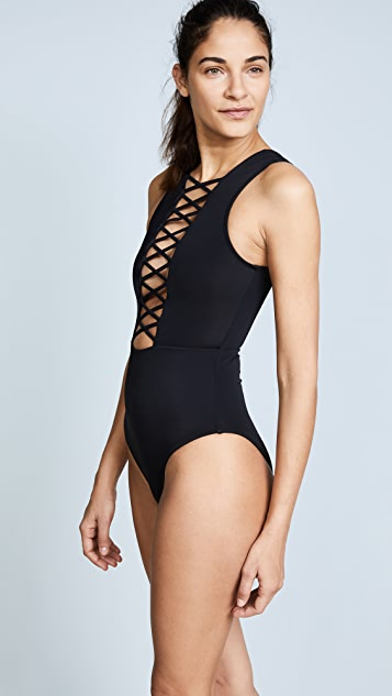 OYE Swimwear Jasmine Lace Up One Piece