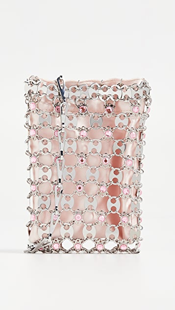 Paco Rabanne Flash Mini Crossbody Bag - Pink/Silver