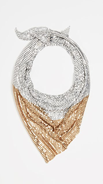 Paco Rabanne Scarf Mesh Necklace
