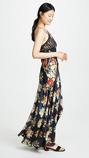 Paco Rabanne Макси-платье с рисунком