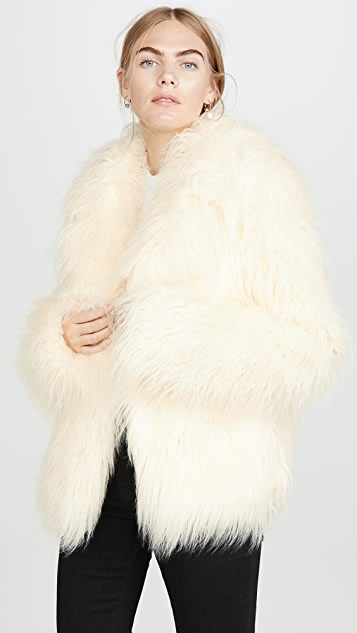 Paco Rabanne Faux Fur Coat