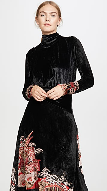 Paco Rabanne Jacquard Velvet Dress