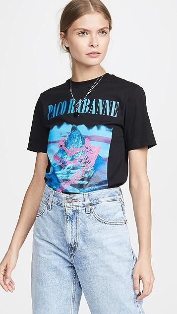 Paco Rabanne Montagne 印花 T 恤