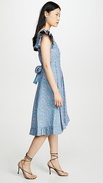 Paco Rabanne Платье с оборками на плечах