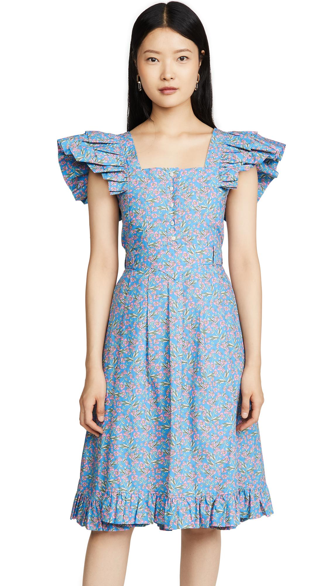 Paco Rabanne Ruffle Shoulder Dress