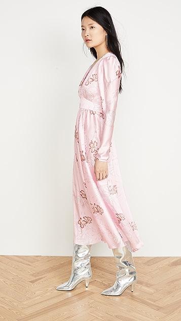 Paco Rabanne Платье Hawaii с длинными объемными рукавами