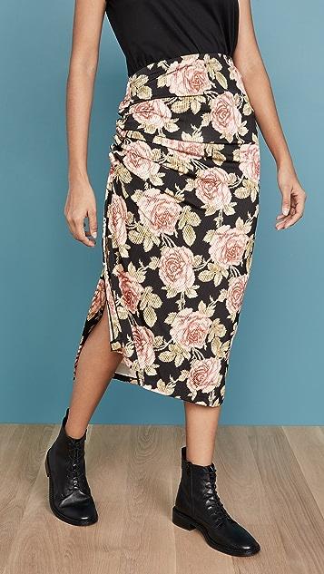Paco Rabanne Black Roses Skirt