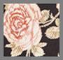黑底玫瑰花图案
