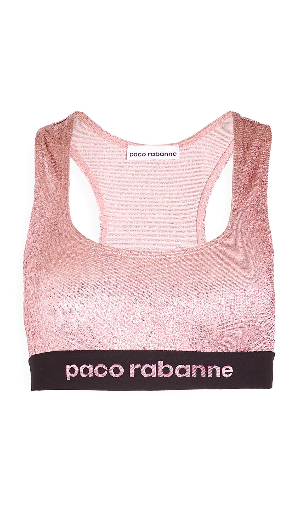 Paco Rabanne Metallic Sports Bra