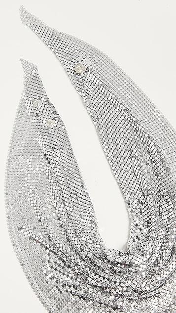 Paco Rabanne 三角形围巾项链