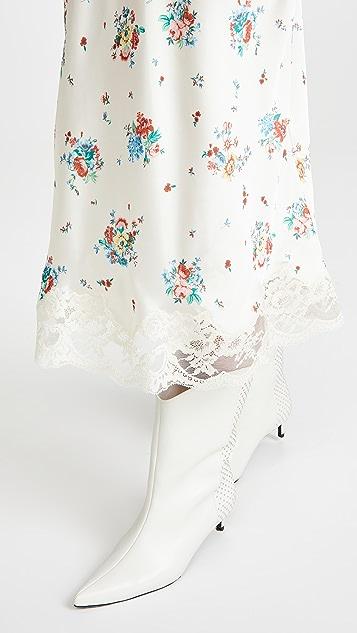Paco Rabanne 花卉印花半身裙