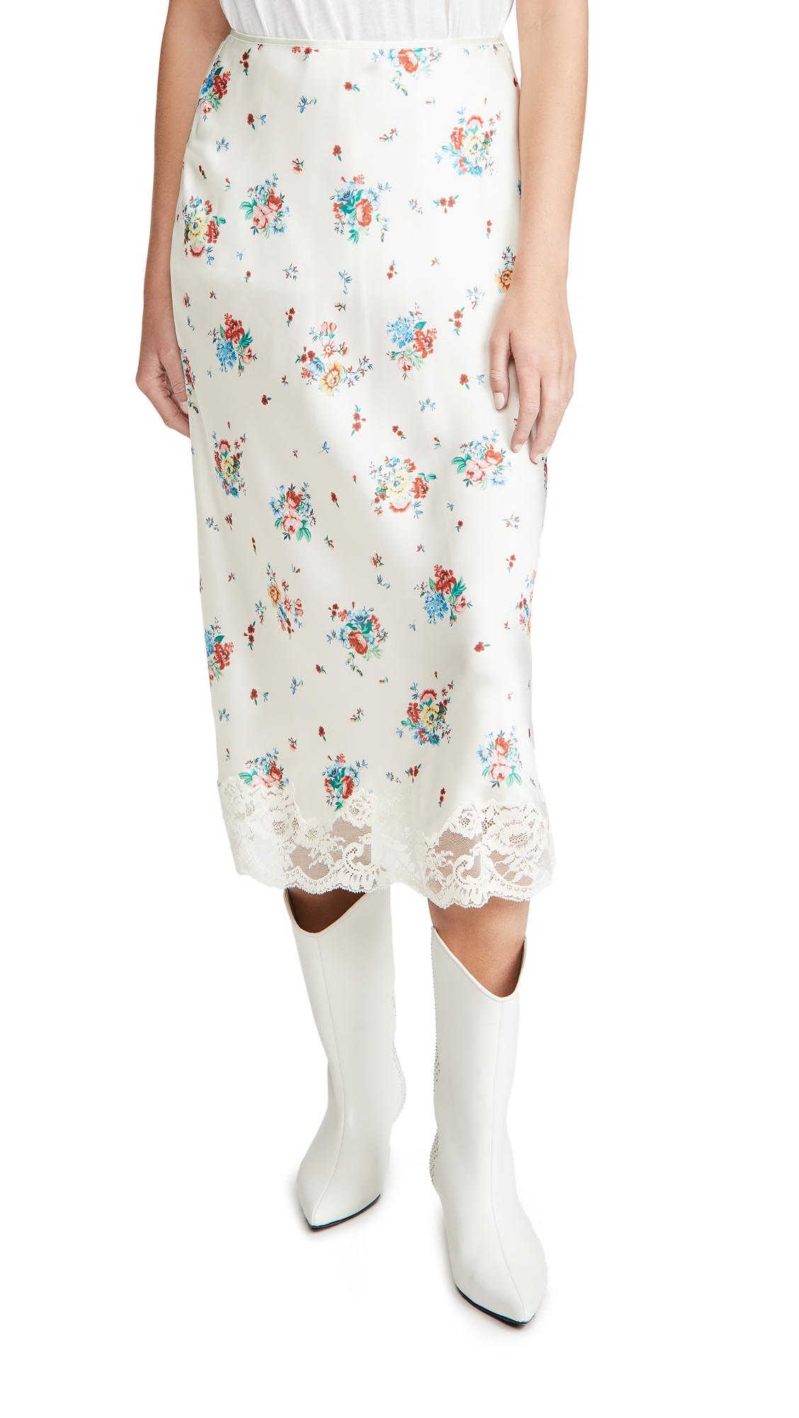 Paco Rabanne Floral Printed Skirt