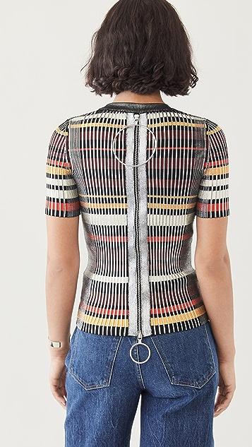 Paco Rabanne 金属色针织上衣