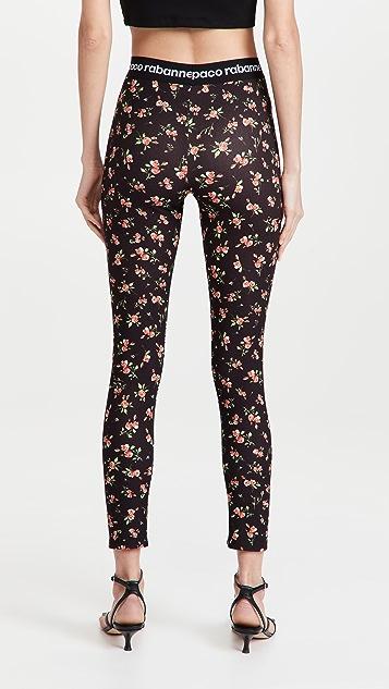 Paco Rabanne Floral Leggings