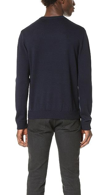 Patrik Ervell Merino Jacquard Crew Sweater