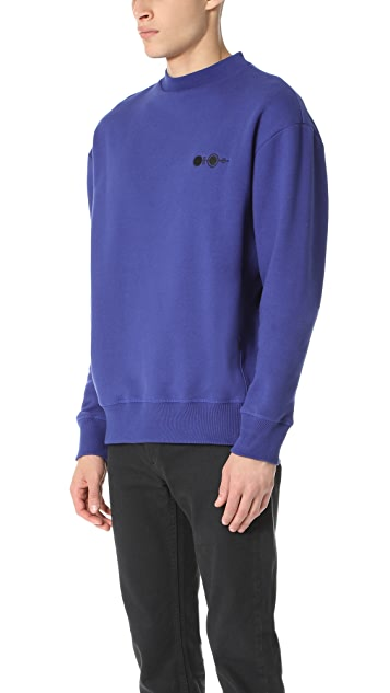 Patrik Ervell Embroidered Crew Sweatshirt