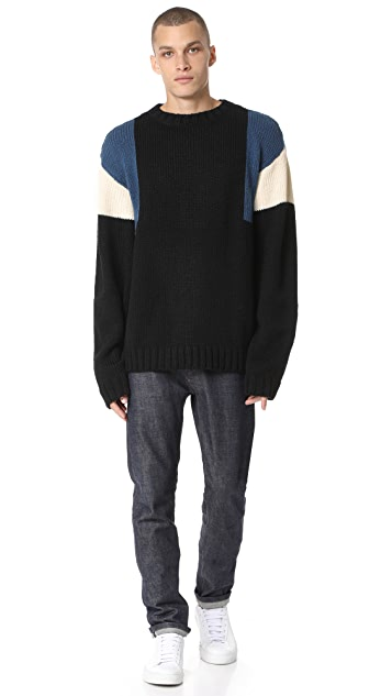 Patrik Ervell Colorblock Knit Sweater