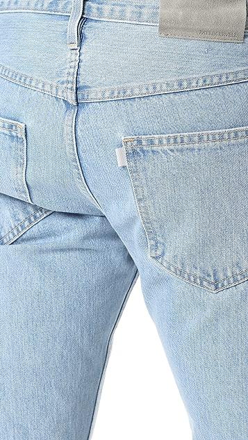 Patrik Ervell Classic Light Stonewash Denim Jeans