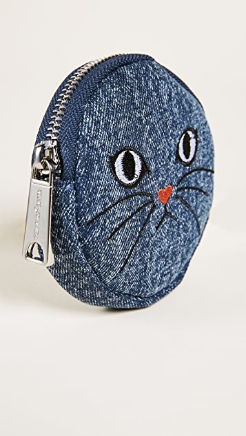 Paul & Joe Sister Denim Cat Coin Purse
