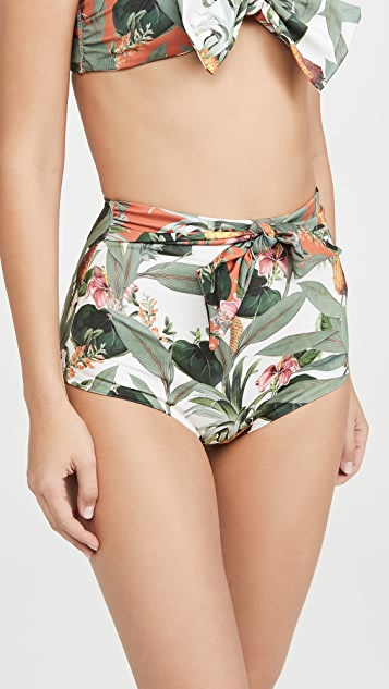 Palmacea Pina High Waisted Bikini Bottoms