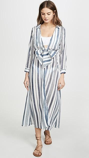 Palmacea Striped Wrap Dress