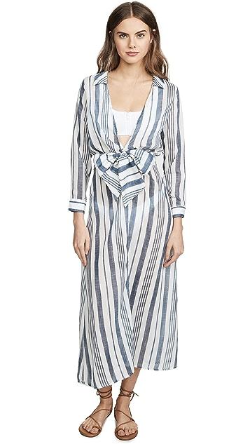 Palmacea Платье-халат в полоску