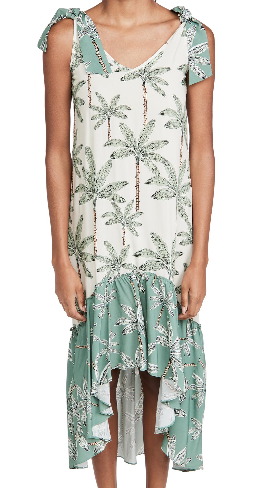 Palmacea Cover Up Mixed Maxi Dress