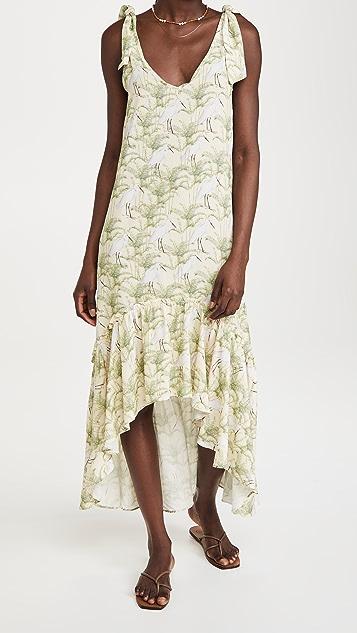 Palmacea 混搭图案长连衣裙