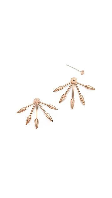 Pamela Love Five Spike Earrings