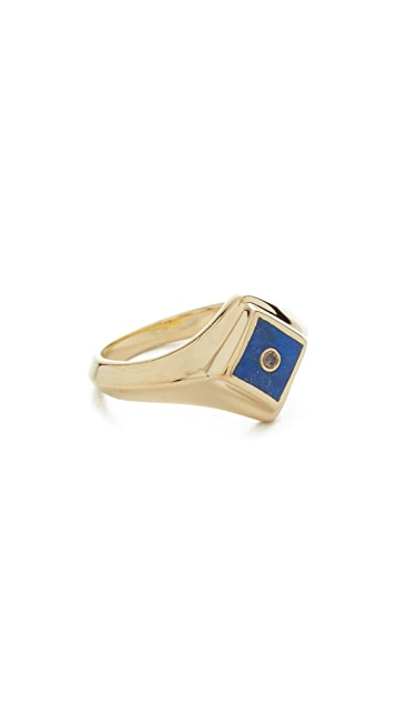 Pamela Love Apex Inlay Signet Ring