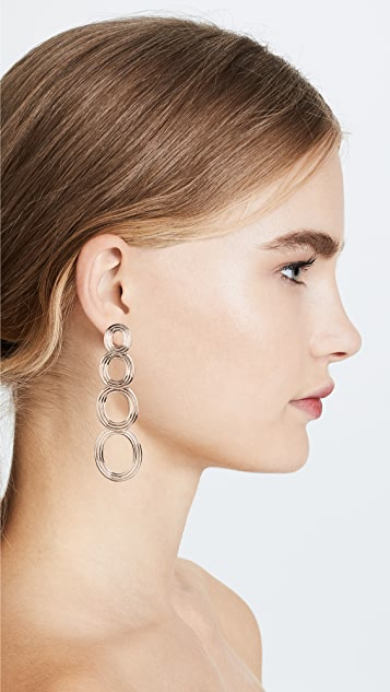 Pamela Love Four Circle Drop Earrings