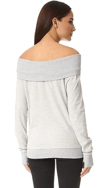 Pam & Gela Off Shoulder Sweatshirt