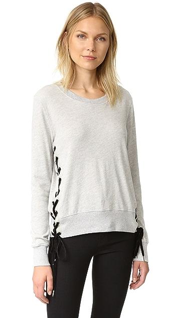 Pam & Gela Side Lace Up Sweatshirt