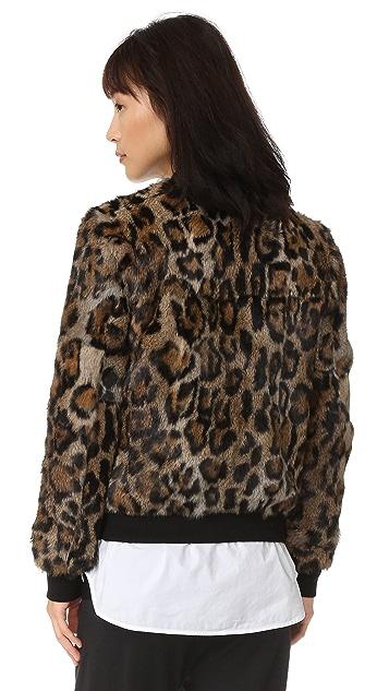 Pam & Gela Fur Bomber Jacket