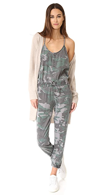 Pam & Gela Camo Strappy Jumpsuit