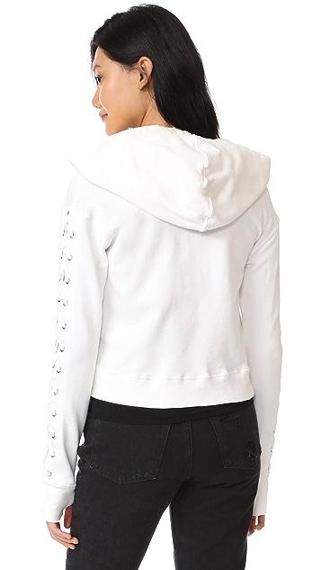 Pam & Gela Lace Up Sweatshirt