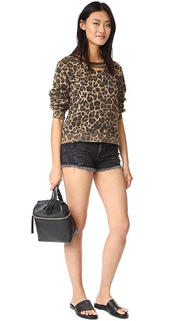Pam & Gela Leopard Print Sweatshirt