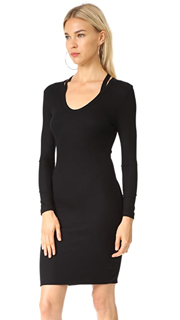 Pam & Gela Split Neck Dress