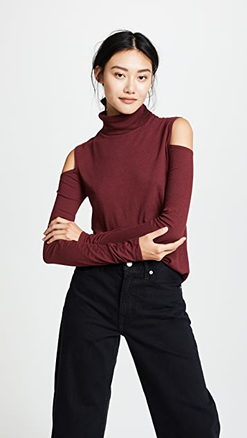 Pam & Gela Cold Shoulder Turtleneck