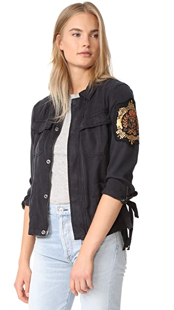 Pam & Gela Cargo Jacket with Crest Patch