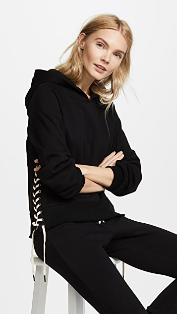 Pam & Gela Hollywood Hoodie with Lace Up Side Seam