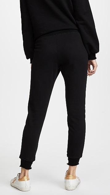 Pam & Gela Lace Front Long Rise Sweatpants