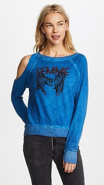 Pam & Gela Cold Shoulder Sweatshirt