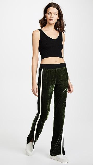 Pam & Gela Velvet Track Pants