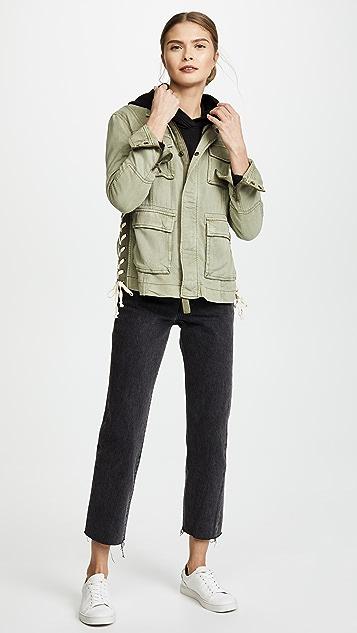 Pam & Gela Lace Up Field Jacket