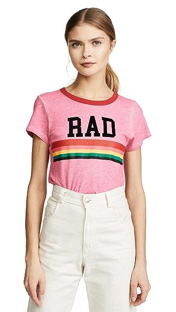 Pam & Gela Pink Rad Rainbow Ringer Tee