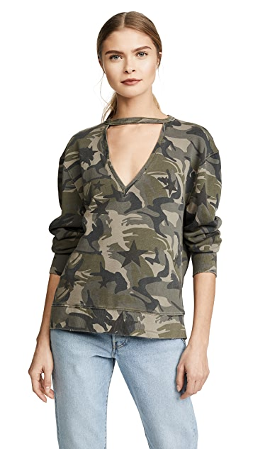 Pam & Gela Choker Sweatshirt