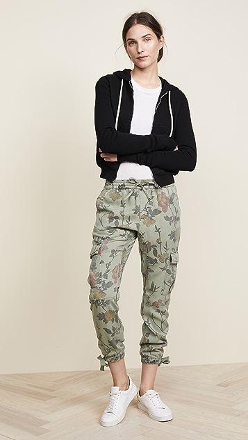 Pam & Gela Floral Printed Cargo Pants