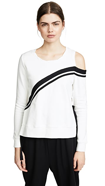 Pam & Gela Cold Shoulder Sweatshirt