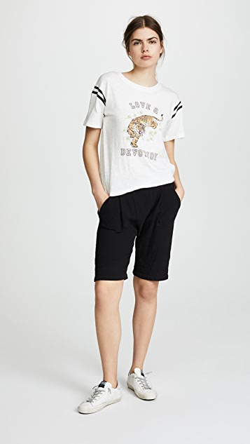 Pam & Gela Tee with Football Stripe